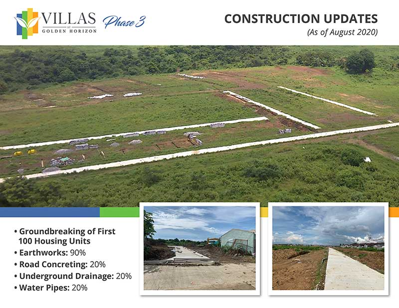 Villas Phase 3 Construction Updates (As of August 2020
