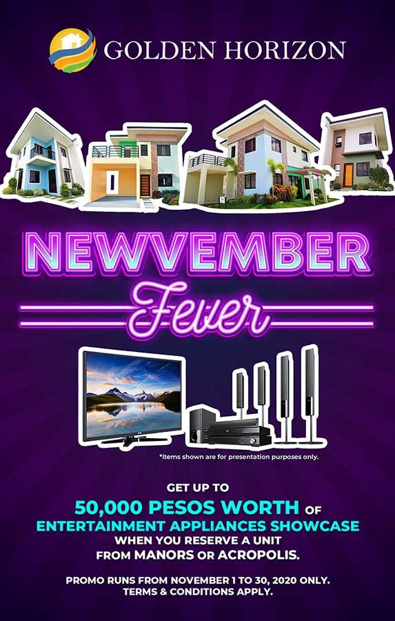 Golden Horizon Newvember Fever Promo Poster
