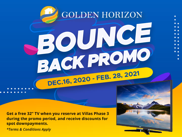 Villas Phase 3 at Golden Horizon Bounce Back Promo