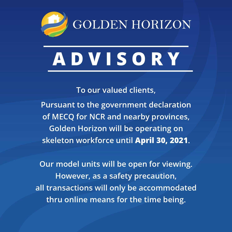 Golden Horizon Advisory - April 12, 2021