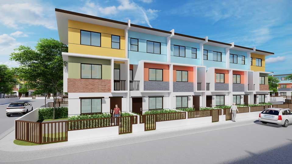 New 3-Storey Townhouse model at Golden Horizon