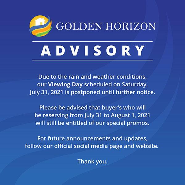 Golden Horizon Advisory - August 29, 2021
